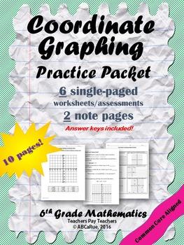 Coordinate Graphing Practice Worksheets BUNDLE