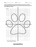 Coordinate Plane Practice Paw Print