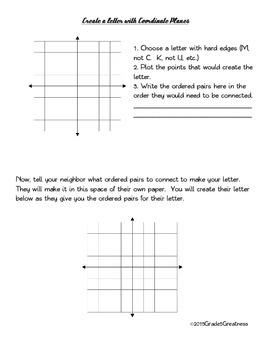 Geometry Fun--Coordinate Plane Practice and Activity