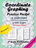 Coordinate Graphing Practice Worksheets BUNDLE