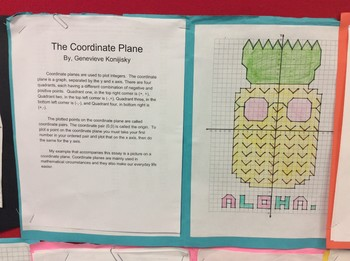 Coordinate Plane Application Activity