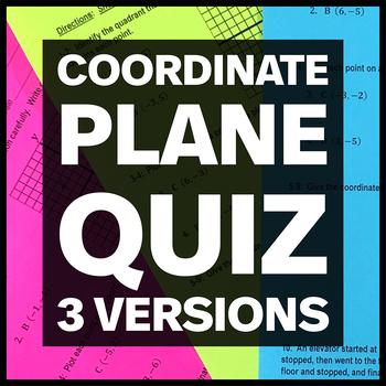 Coordinate Plane Quiz
