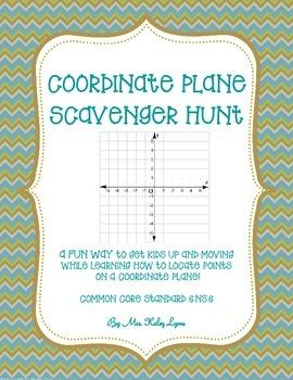 Coordinate Plane Scavenger Hunt
