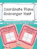 Coordinate Plane Scavenger Hunt--Valentine's Day Theme
