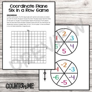 Coordinate Plane Spinner Games