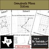Coordinate Plane Stations (STAAR Test Prep / 6.11)