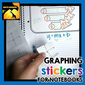 FREE Coordinate Plane Sticker Templates