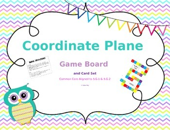 Coordinate Plane Task Cards and Game Board Set ~Aligned to