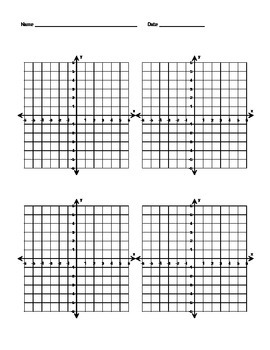 Coordinate Plane Template 4 by A World \
