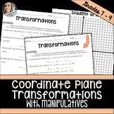Coordinate Plane Transformations Activity