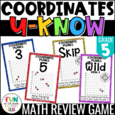 Coordinates Game | Coordinate Plane U-Know Review Game | 5th Grade 5.G.1, 5.G.2