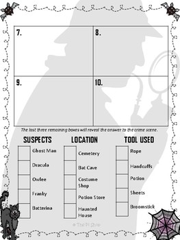 CSI Math Review (Kidnapped Witch) (No prep)