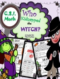 4CSI Math Review (Kidnapped Witch) (No prep)