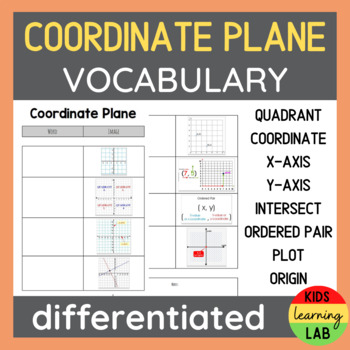 Differentiated Coordinate Plane Vocabulary