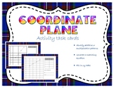 Coordinate Plane activity task cards