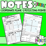 Coordinate Plane and Reflecting Points Notes Bundle