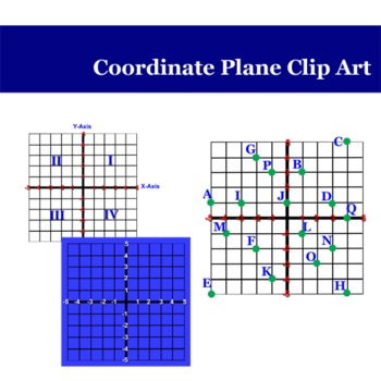 Coordinate Plane/Graphing Clip Art