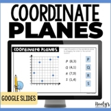 Coordinate Planes Distance Learning Google Slides