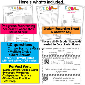 6th Grade Coordinate Planes Game | 6th Grade Math Review