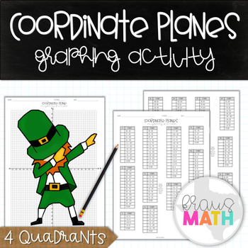 Coordinate Planes Graphing Activity: St. Patrick's Day DAB! (4 Quadrants)