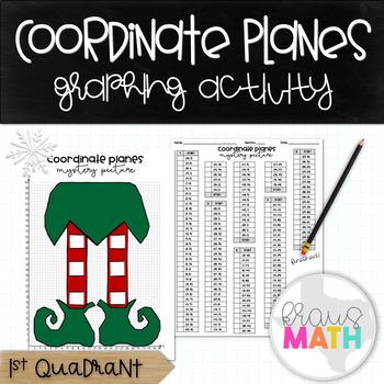 Coordinate Plane Graphing Activity: Christmas Elf Feet! (1st Quadrant)