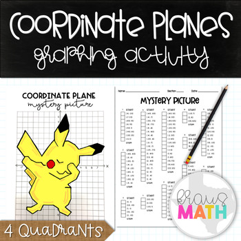 PIKACHU DAB (Pokemon): Coordinate Planes Mystery Picture! (4 Quadrants)
