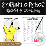 PIKACHU DAB (Pokemon): Coordinate Plane Graphing Activity! (4 Quadrants)