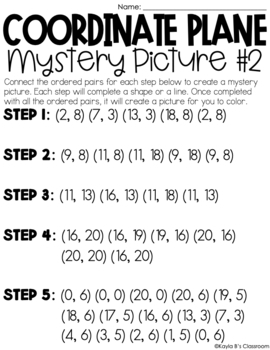Coordinate Planes Mystery Pictures
