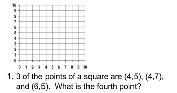 Coordinate Planes Questions 5.G.1, 5.G.2