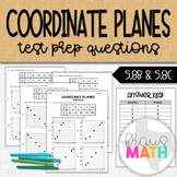 Coordinate Planes STAAR Test Prep Worksheet (5.8C)