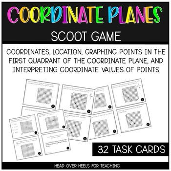 Coordinate Planes Scoot Game {Task Cards}
