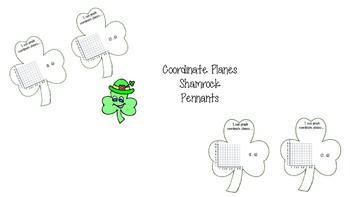 Coordinate Planes Shamrock Pennants