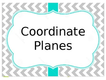 Coordinate Planes Task Cards