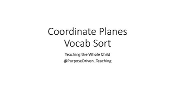 Coordinate Planes Vocab Matching Cards