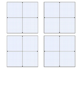 Coordinate Planes X-Y Axis (for graphing)