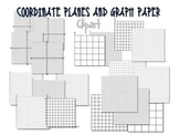 Coordinate Planes and Graph Paper Clip Art