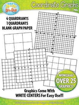 Coordinate Planes and Graphs Clipart {Zip-A-Dee-Doo-Dah Designs}