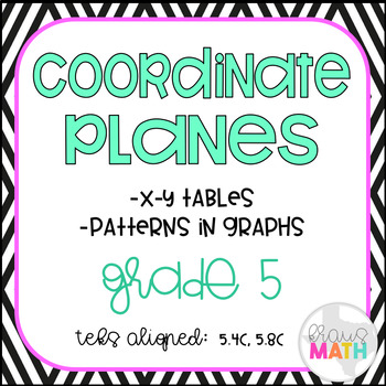 Coordinate Planes with Input-Output Tables- Task Cards (GRADE 5)