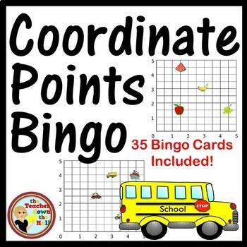 COORDINATE PAIRS - Coordinate Point Bingo - wtih Decimal a