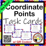COORDINATE PAIRS - Coordinate Point TASK CARDS - 28 cards w/ QR Codes