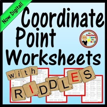 Coordinate Point Worksheets w/ Riddles