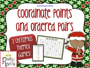 Coordinate Points - 2 Christmas themed games!