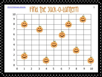 Coordinate Points - 2 Halloween themed games!