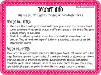 Coordinate Points - 2 Math Games!