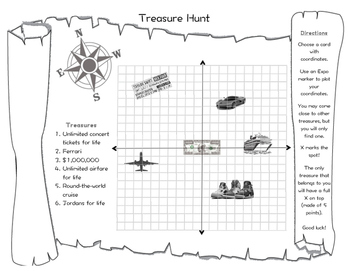 Coordinate Points Treasure Hunt