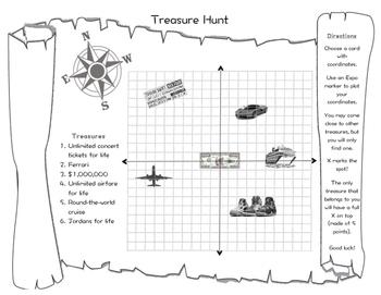 Coordinate Points Treasure Hunt