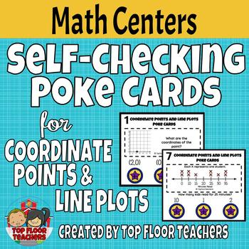 Coordinate Points and Line Plots Poke Cards