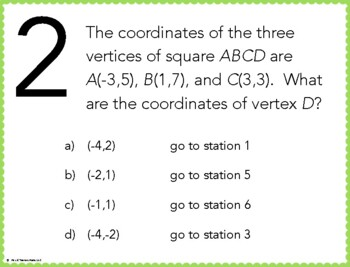 Coordinate Quadrilaterals Stations Maze Activity