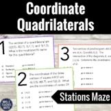 Coordinate Quadrilaterals Stations Maze Activity