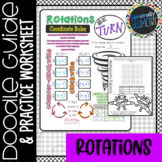 Coordinate Rotations Doodle Guide & Practice Worksheet; Geometry